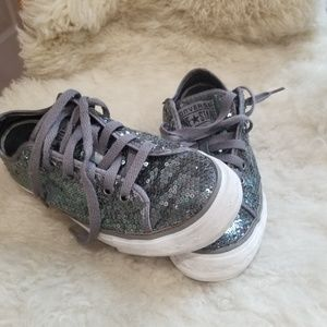 Converse One Star Sequins Sneakers 7.5